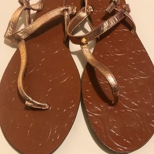 Kate Spade Rose Gold Thong Sandals